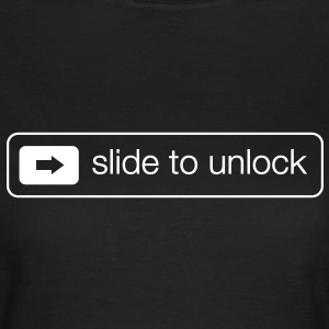 Slide to unlock T-Shirts - Frauen T-Shirt