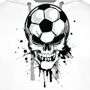 White Ruby red soccer skull kicker ball football pirat Women's T-Shirts Hoodies & Sweatshirts - Men's Premium Hoodie