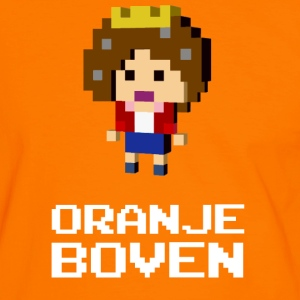 Queen Beatrix Orange Dutch on top T-shirts - Mannen contrastshirt