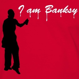 Rouge/blanc i_am_banksy_2c Tee shirts - T-shirt contraste Homme