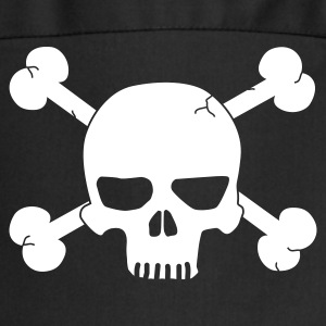 skull with bones / pirate Kookschorten - Keukenschort