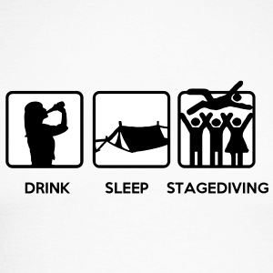 Drink Sleep Stage Diving - festival stages tents Long sleeve shirts - Men's Long Sleeve Baseball T-Shirt