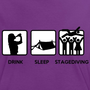 Drink Sleep Stage Diving - festival stages tents T-Shirts - Women's Ringer T-Shirt