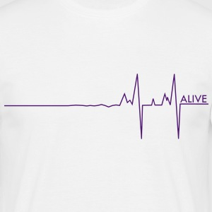 Alive pulse live puls - T-skjorte for menn