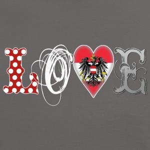 Love Austria White - Frauen Kontrast-T-Shirt