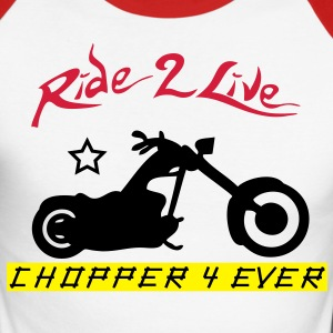 ride2live Tee shirts manches longues - T-shirt baseball manches longues Homme