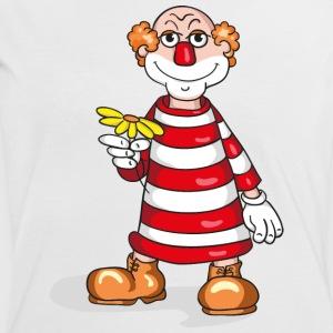 Lovely little clown with flower T-shirts - Dame kontrast-T-shirt