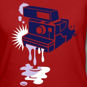 Instant camera - color drips out -  T-Shirts - Women's Organic T-shirt