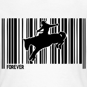 code barre rodeo cheval horse33 Tee shirts - T-shirt Femme