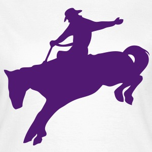 rodeo cowboy cheval horse3 silhouette Tee shirts - T-shirt Femme