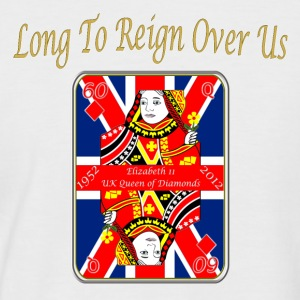 queens diamond jubilee reign over us T-Shirts - Men's Baseball T-Shirt