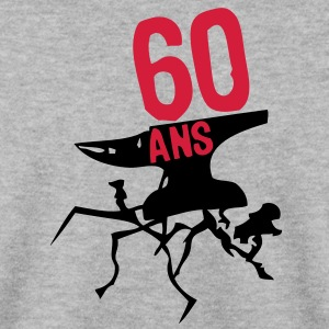 60 ans enclume fissure anniversaire Sweat-shirts - Sweat-shirt Homme