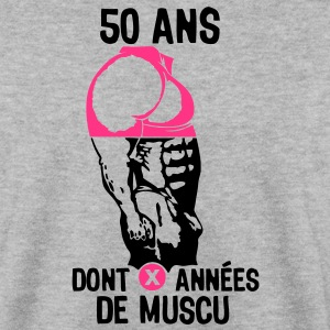 50 ans musculation bodybuilding anniver Sweat-shirts - Sweat-shirt Homme