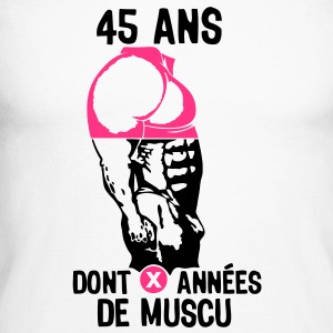 45 ans musculation bodybuilding anniver Tee shirts manches longues - T-shirt baseball manches longues Homme