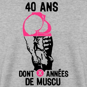 40 ans musculation bodybuilding anniver Sweat-shirts - Sweat-shirt Homme