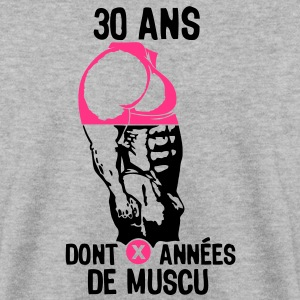 30 ans musculation bodybuilding anniver Sweat-shirts - Sweat-shirt Homme