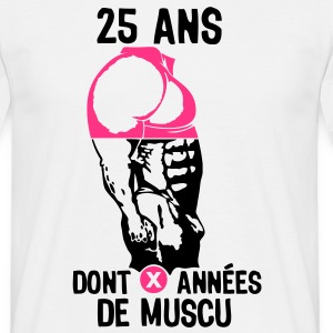 25 ans musculation bodybuilding anniver Tee shirts - T-shirt Homme