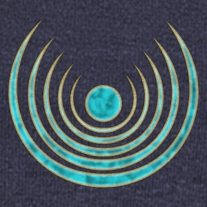 Moon amulet Blue Moon - intuition, creativity and media skills, digital, protection symbol Sweaters - Vrouwen trui met U-hals van Bella