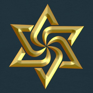 Rael Star, digital gold, variant of Swasika (Svasti - happiness, Salvation) - happiness symbol Tee shirts - T-shirt Homme
