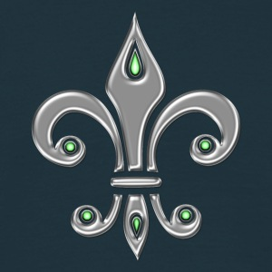 Fleur de Lis - Lily Flower, Trinity Symbol - Charity, Hope and Faith, silver  T-Shirts - Men's T-Shirt