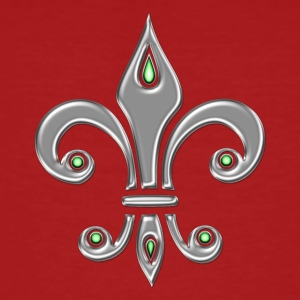 Fleur de Lis - Lily Flower, Trinity Symbol - Charity, Hope and Faith, silver  T-Shirts - Men's Organic T-shirt