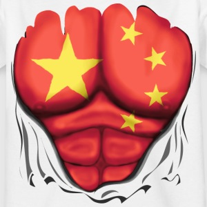China Vlag Geript Spieren  - Teenager T-shirt