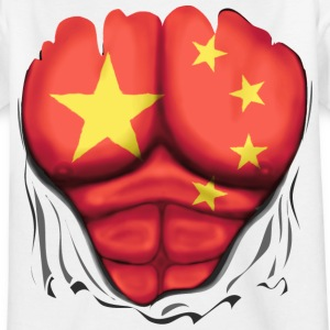 China Flagge Gerippt Muskeln - Teenager T-Shirt