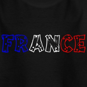 France tricolore Tip Tee shirts - T-shirt Ado