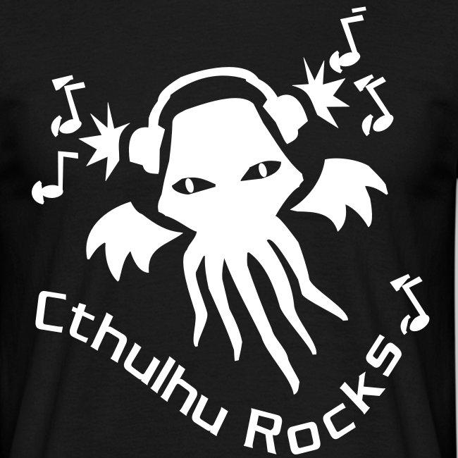 MTEw: Cthulhu Rocks (white)