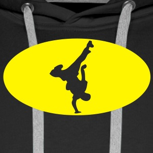 breakdance logo bat musique4 Sweat-shirts - Sweat-shirt à capuche Premium pour hommes