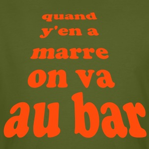 quand y en marre on va au bar by customstyle Tee shirts - T-shirt bio Homme