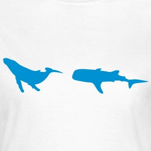 animation whale baleine1 Tee shirts - T-shirt Femme