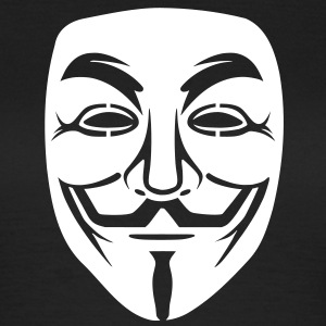 Anonymous / masque de Guy Fawkes 1clr Tee shirts - T-shirt Femme