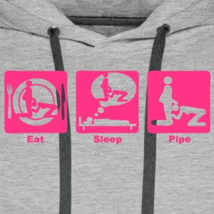 eat sleep pipe play1 Sweat-shirts - Sweat-shirt à capuche Premium pour hommes
