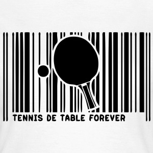code barre pingpong tennistable raquette Tee shirts - T-shirt Femme