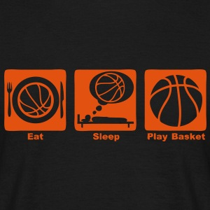 eat sleep play basketball ballon1 Tee shirts - T-shirt Homme