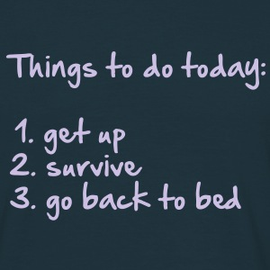 177_things_to_do_today T-shirts - Herre-T-shirt