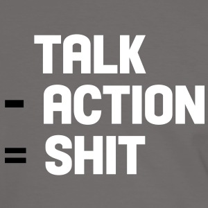talk - action = shit Tee shirts - T-shirt contraste Homme