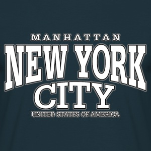 New York City Manhattan white - Männer T-Shirt