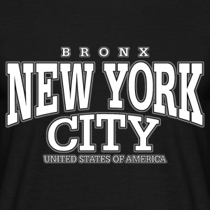 New York City Bronx white - Männer T-Shirt