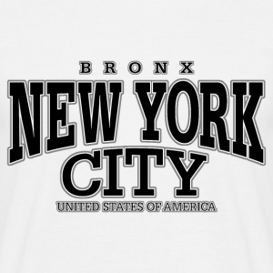 New York City Bronx black - Männer T-Shirt