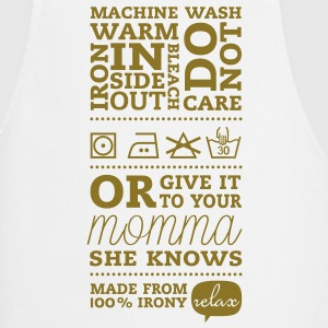 Laundry tag mother knows best  Aprons - Cooking Apron