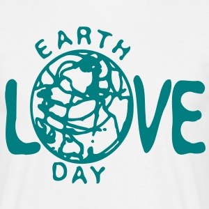 Love Earth day  men's classic T-shirt  - Men's T-Shirt