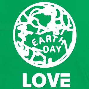 Love Earth day  women's contrast T-shirt  - Women's Ringer T-Shirt