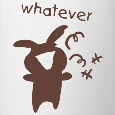 Whatever smile bunny funny  Mug