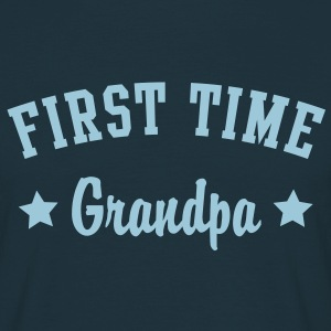 FIRST TIME Grandpa Shirt HN - Mannen T-shirt