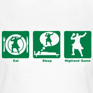 highland game eat sleep play  Tee shirts - T-shirt Femme