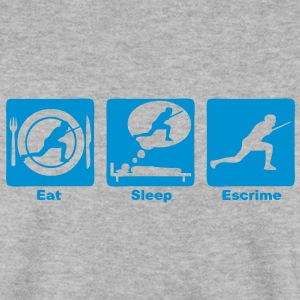 escrime 30 eat sleep play  Sweat-shirts - Sweat-shirt Homme
