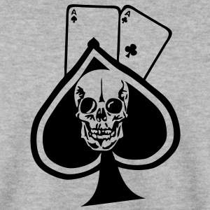pique paire as tete mort skull1 poker Sweat-shirts - Sweat-shirt Homme