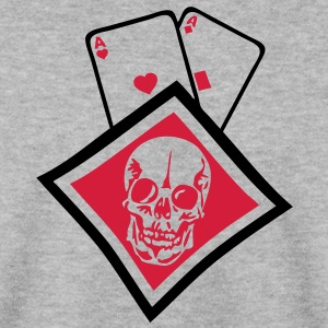 carreau paire as tete mort skull1 poker Sweat-shirts - Sweat-shirt Homme